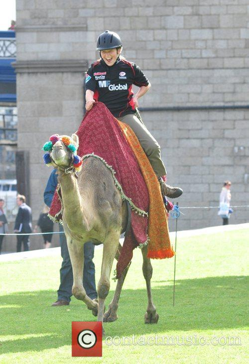 Saracens Rugby Club Hosts A Camel Race In Potters Fields Park 8
