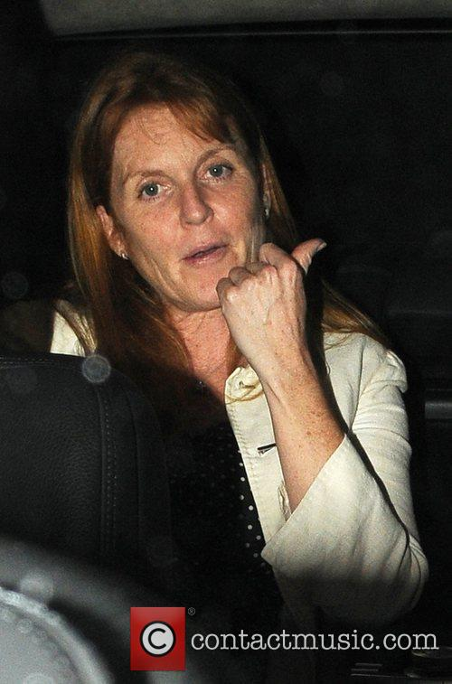 Sarah Ferguson, Duchess of York Leaving the Dorchester...