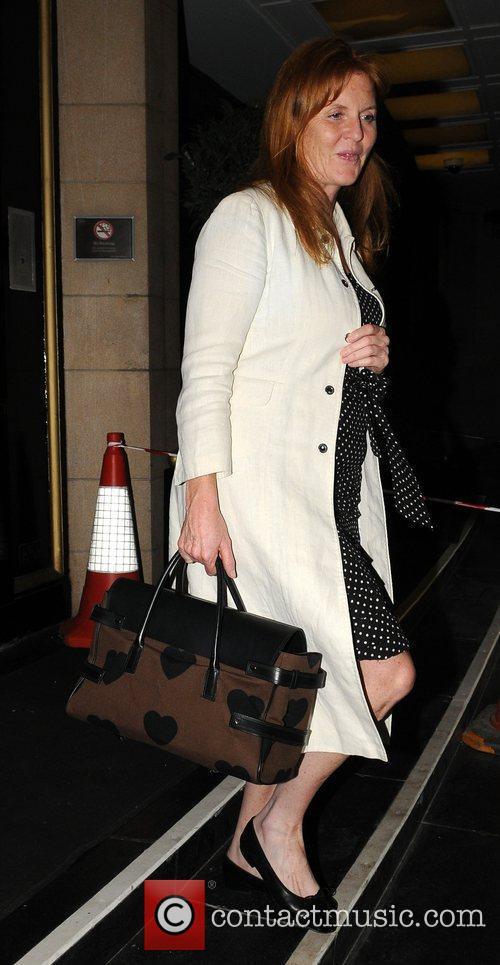 Leaving the Dorchester hotel late on Tuesday evening