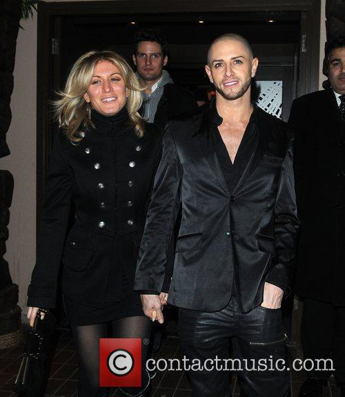 Brian Friedman and guest celebrate Sarah Harding and...