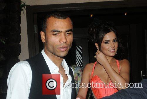Cheryl and Ashley Cole celebrate Sarah Harding and...