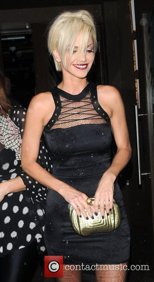 Sarah Harding celebrates her birthday with a joint...