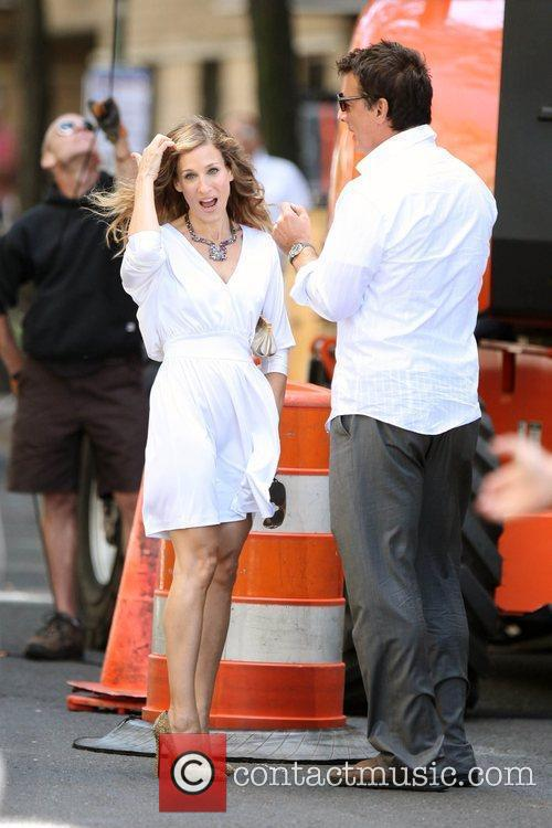 Sarah Jessica Parker and Chris Noth on the...