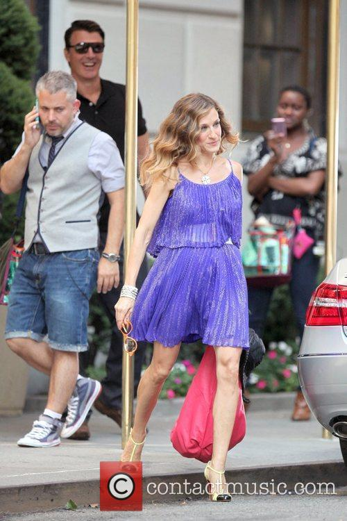 Chris Noth and Sarah Jessica Parker on the...