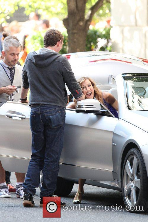 Laugh on the set of 'Sex and the...