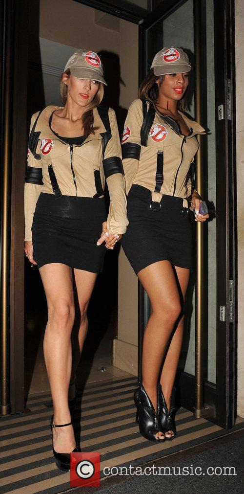 Rochelle Wiseman of 'The Saturdays' and a friend...
