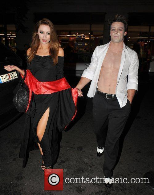 Una Healy of 'The Saturdays' with her boyfriend...