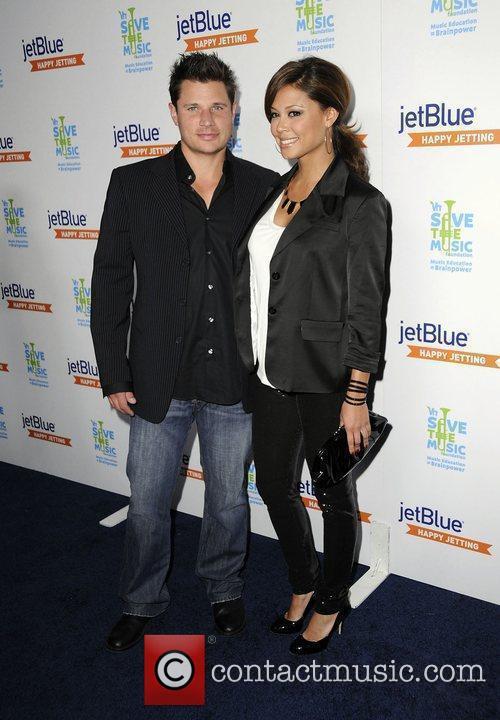 Nick Lachey and Vanessa Minnillo  JetBlue and...
