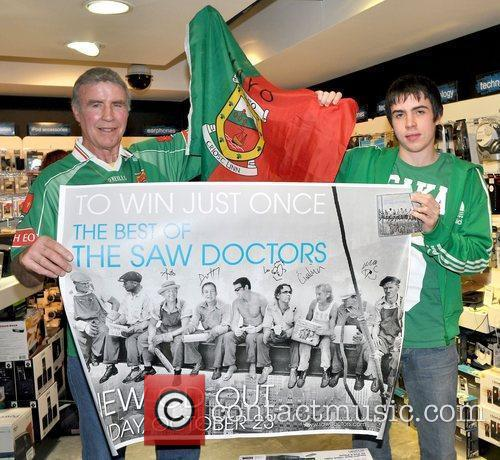 Folk rock band The Saw Doctors sign copies...