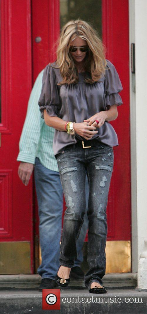 Elle Macpherson takes her children to school London,...