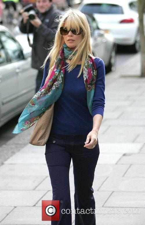 Claudia Schiffer returning home after taking her children...