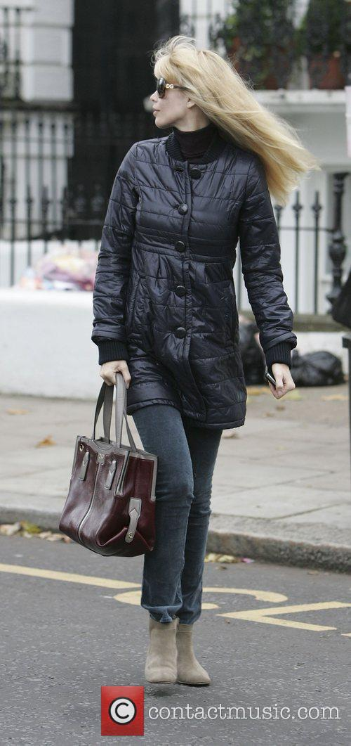 Claudia Schiffer making her way home after taking...