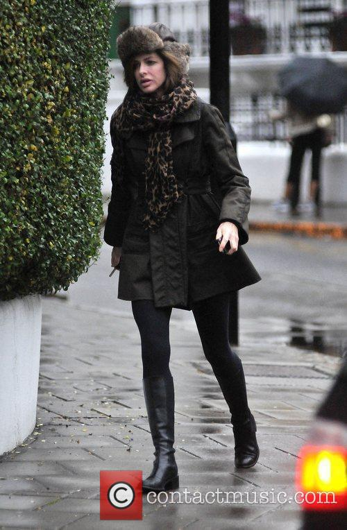 Trinny Woodall making her way home after dropping...