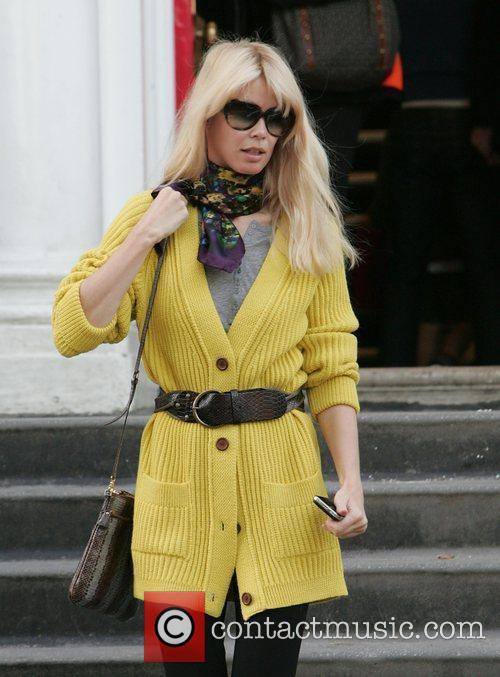 Claudia Schiffer making her way home after dropping...