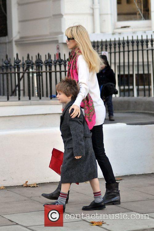 Claudia Schiffer Takes her son Caspar to school...
