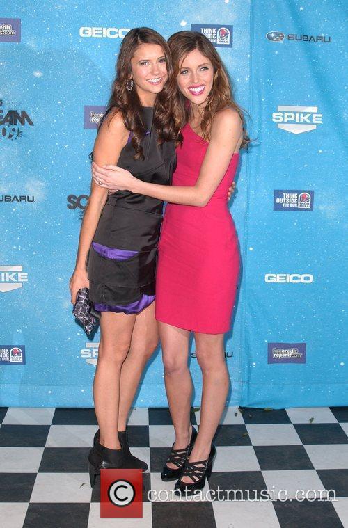 Nina Dobrev and Kayla Ewell Spike TV's 2009...