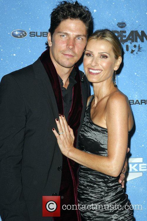 Michael Trucco & wife Spike TV's 2009 Scream...