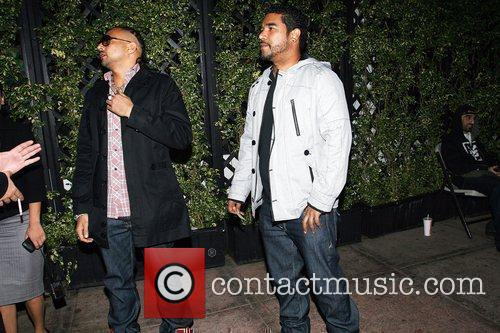 Sean Paul (left) at Cabana Club in Hollywood...