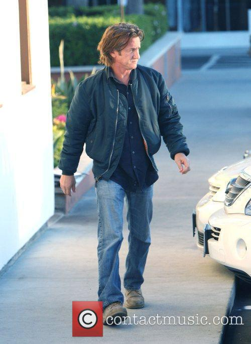 Sean Penn visits Cross Creek Malibu Los Angeles,...