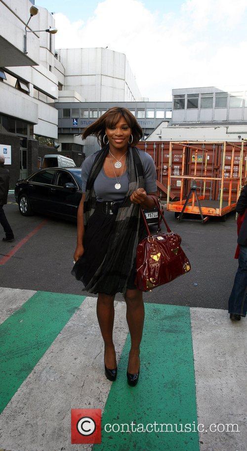 Serena Williams outside the GMTV studios London, England