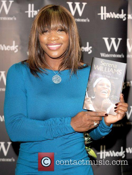 Attends a book signing for her autobiography 'Queen...
