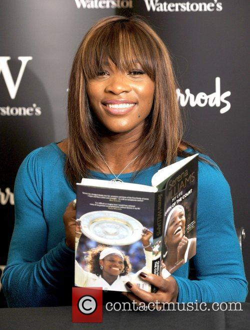 Serena Williams attends a book signing for her...