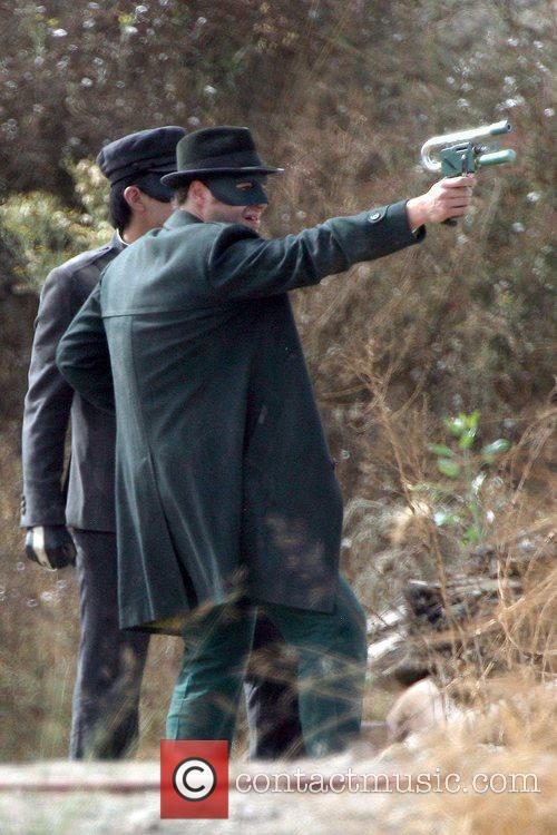 Seth Rogen On The Set Of His Upcoming Film 'the Green Hornet' 4