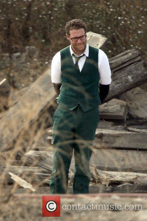 Seth Rogen On The Set Of His Upcoming Film 'the Green Hornet' 1