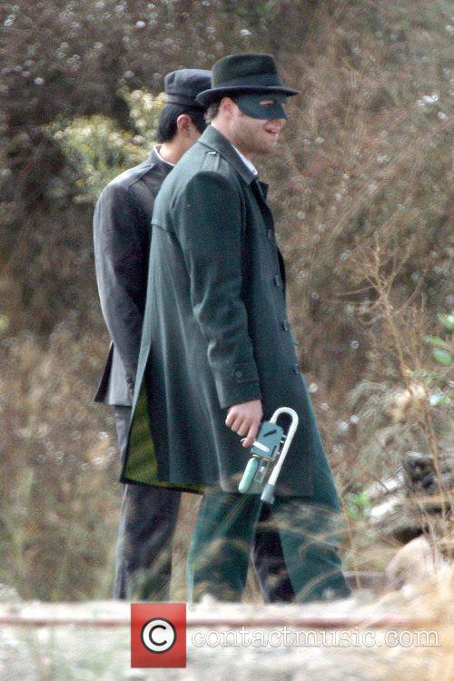 Seth Rogen On The Set Of His Upcoming Film 'the Green Hornet' 7