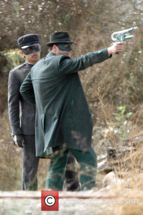 Seth Rogen On The Set Of His Upcoming Film 'the Green Hornet' 3