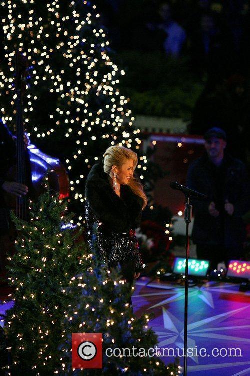 Taping her upcoming Christmas tree lighting performing at...