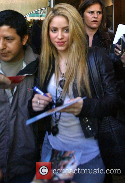 Shakira leaving the BBC studios after recording a...