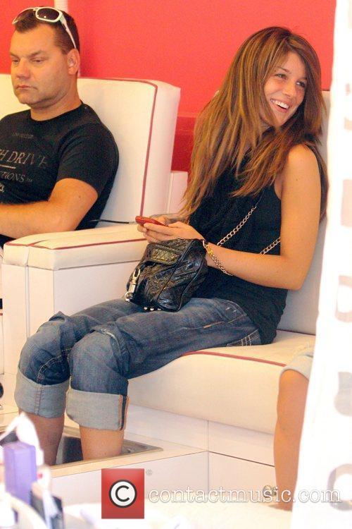 Shenae Grimes  '90210' star getting a pedicure...