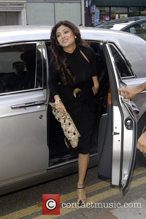 Shilpa Shetty arrives at the launch of the...