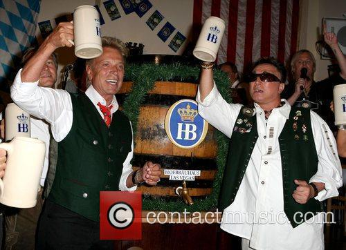 Seigfred and Roy tap the first keg of...