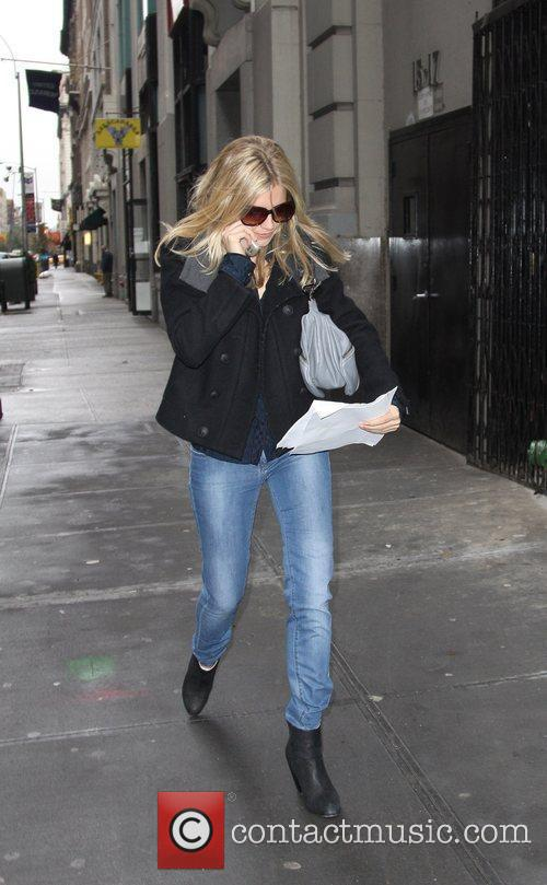 Sienna Miller  out and about in Soho...