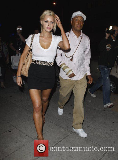 Russell Simmons and Sophie Monk Go Out For Dinner At Katana Restaurant 1