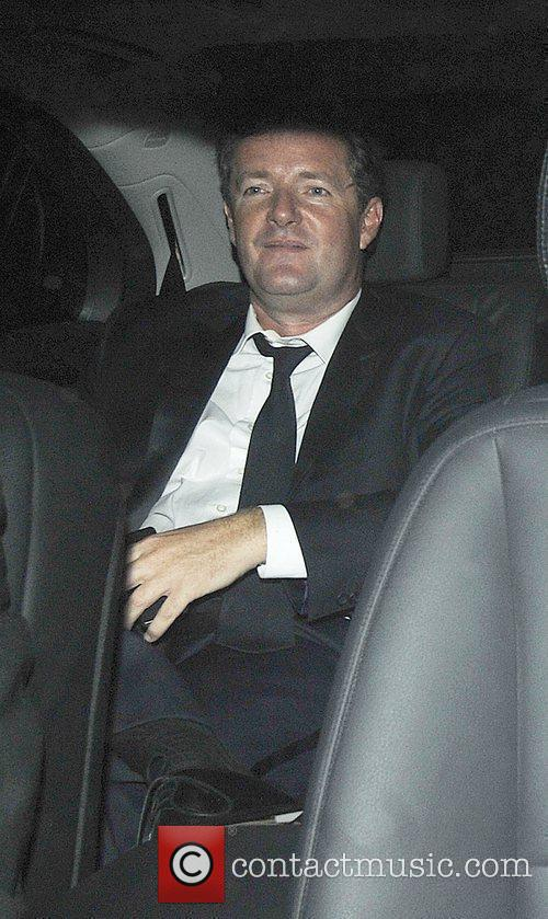 Leaving Simon Cowell's 50th birthday party