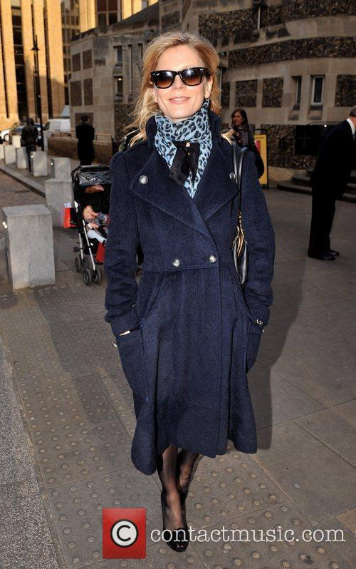 Emilia Fox attending the memorial service for Sir...