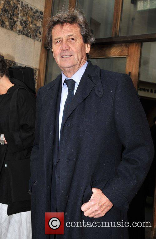 Melvyn Bragg attending the memorial service for Sir...