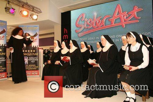 The cast of 'Sister Act' perform songs and...