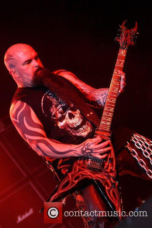 Kerry King Slayer performing live in concert at...