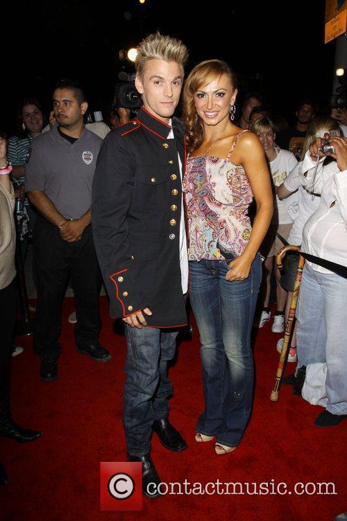 Karina Smirnoff and Aaron Carter visit 'Millions of...