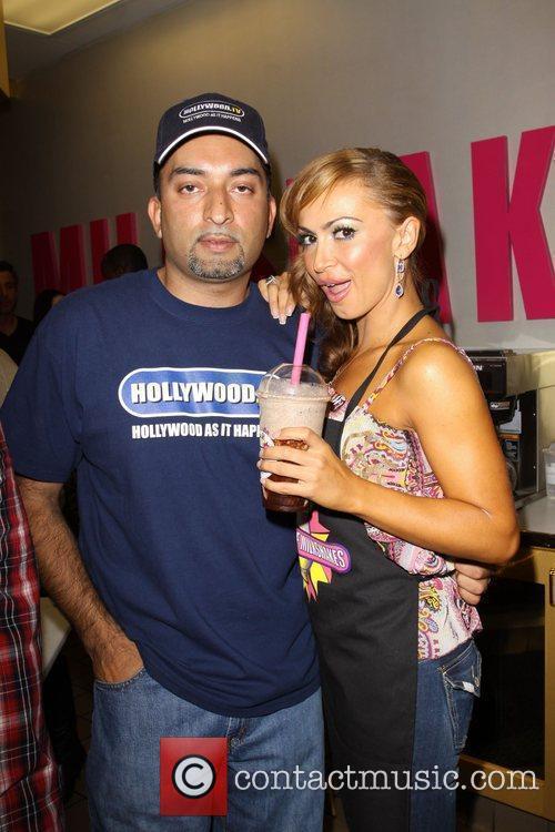 Karina Smirnoff and Millions of Milkshakes owner, Sheeraz...