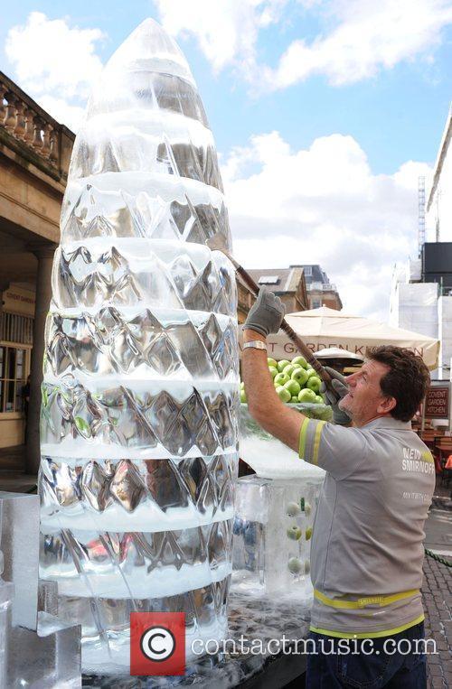 The Gherkin Building Ice Sculptures of London's skyline...