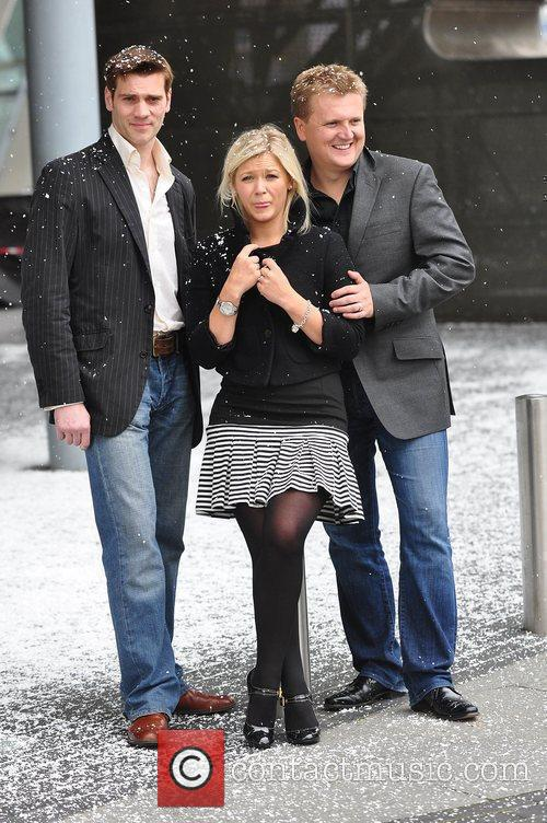 Suzanne Shaw, Alled Jones At A Photocall For Snow White and The Lowery Theatre Manchester 1
