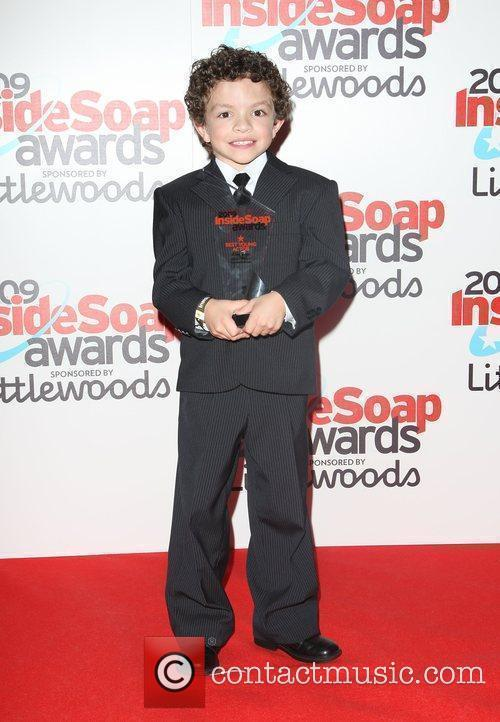 Alex Bain, winner of Best Young Actor The...