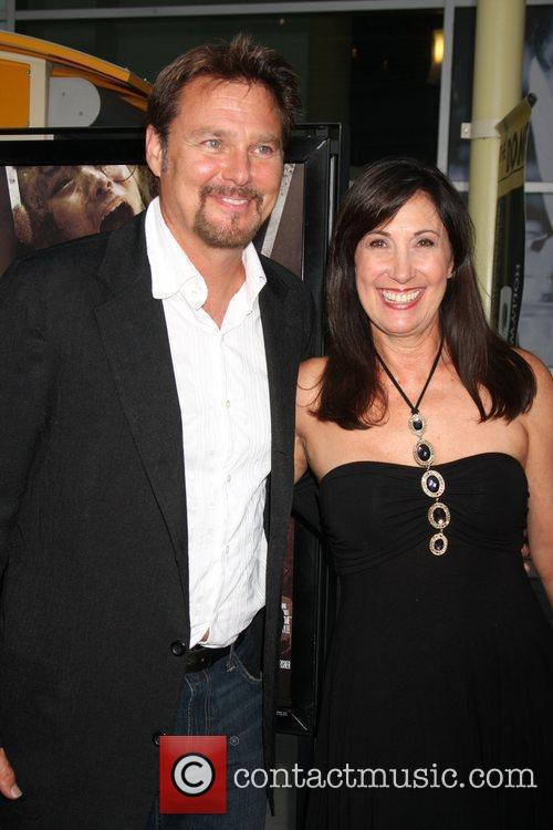 Greg Evigan and Pamela Serpe Los Angeles Premiere...