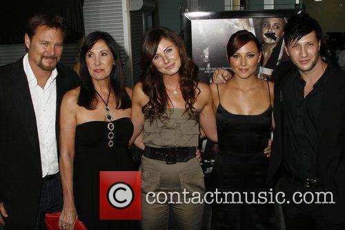 (l-r) Greg Evigan, Pamela Serpe, Vanessa Lee Evigan,...