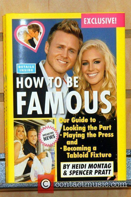 Heidi and Spencer Pratt at Borders signing their...